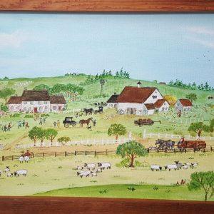 The Birthday Party - Original Folk Art Painting