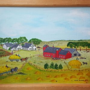"""Haying"" - an original folk art painting"