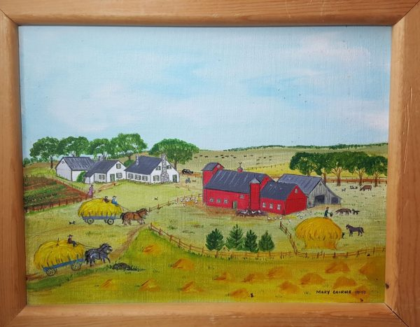 """Haying"" - an original folk art painting"