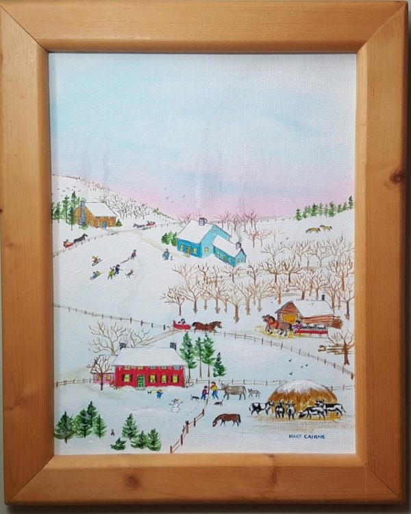 """Sugaring Off"" is an original folk art Painting"