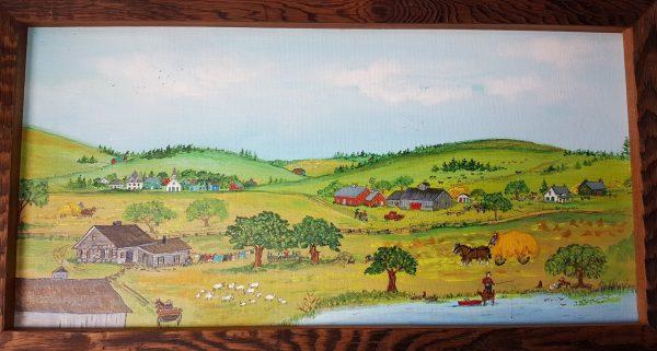 """Gone Fishing"" Original Folk Art Painting"