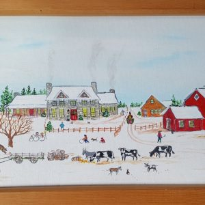 """Ready for Christmas"" Original Folk Art Painting"