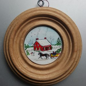 Christmas Eve Folk Art Miniature Painting