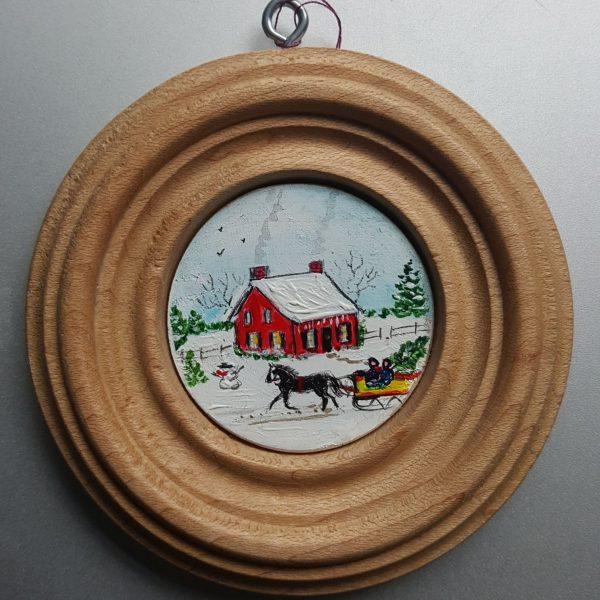 Christmas Eve Folk Art Miniature Painting