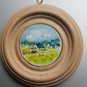 Late Summer Haying - Folk Art Miniature Painting